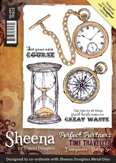 Sheena Douglass Perfect Partners Time Traveller - Timepieces Stamp